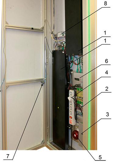Устройство пешеходного радиационного монитора